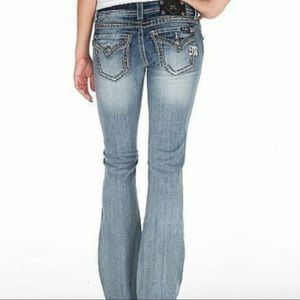 Miss Me Jeans, Stretch Boot Cut & Flap Pocket
